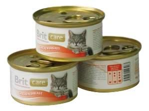 Консервы для кошек Brit Care, курица, 80г