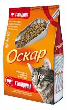 Сухой корм для кошек Оскар, говядина, 0,4кг