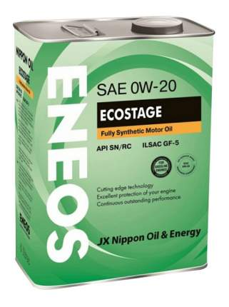 Моторное масло Eneos Ecostage SN 0W-20 4л