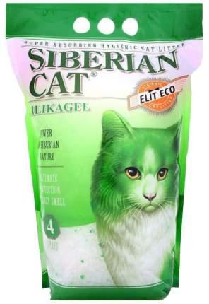 Впитывающий наполнитель для кошек Сибирская кошка Элита Эко силикагелевый, 1.85 кг, 4 л