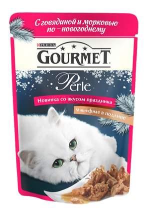 Влажный корм для кошек Gourmet Perle, говядина, овощи, 85г