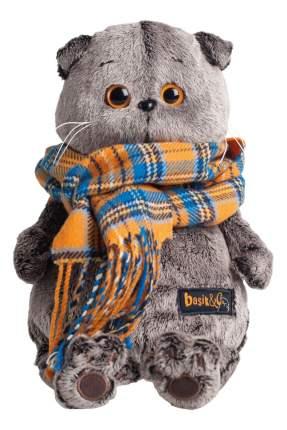 Мягкая игрушка BUDI BASA Ks30-002 Басик и шарф в клеточку 30 см