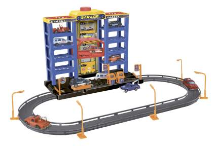 Игровой набор Dave Toy Парковка с 6 машинками