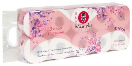 Туалетная бумага Maneki Dream 10х30 м