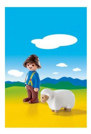 Игровой набор PLAYMOBIL 1.2.3.: Пастух с овцами