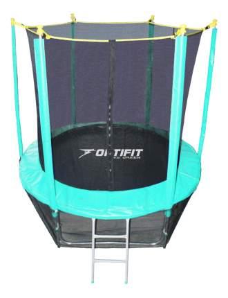 Батут OptiFit Like Green с сеткой и лестницей зеленый 183 см