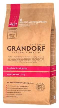 Сухой корм для собак Grandorf Adult Medium, ягненок, рис, 12кг