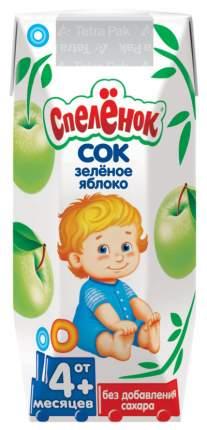 Сок Спелёнок Зелёное яблоко с 4 мес 200 мл
