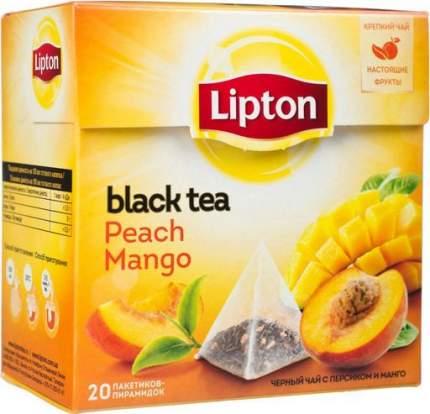 Чай черный Lipton peach mango 20 пакетиков