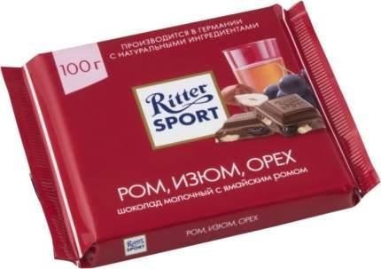 Шоколад молочный Ritter Sport ром изюм орех 100 г