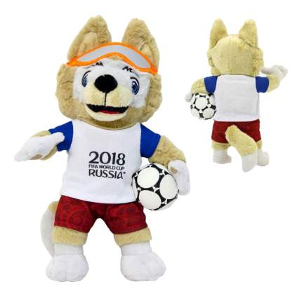 Мягкая игрушка FIFA-2018 Волк Забивака плюшевый 33 см в пакете