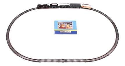 Железная дорога Голубая стрела паровоз, тендер, 3 вагона, длина пути 272 см