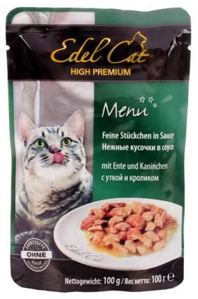Влажный корм для кошек Edel Cat, утка, кролик, 100г
