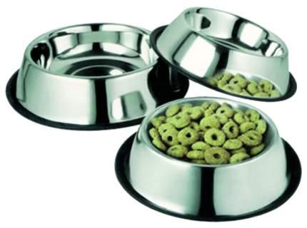 Одинарная миска для кошек и собак Ankur, резина, сталь, серебристый, 0.25 л