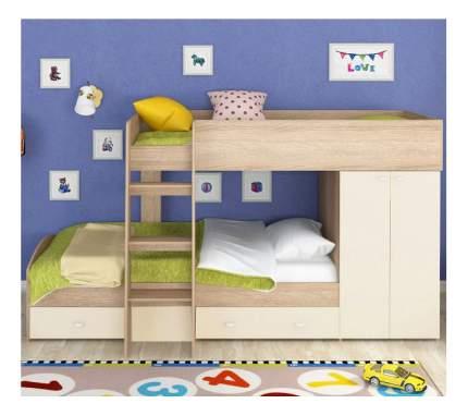 Двухъярусная кровать Golden Kids 2 дуб сонома/белая