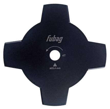 Триммерный диск_4 лопасти_внешний диаметр 255мм_посадочный диаметр 25,4мм, толщина 1,6мм