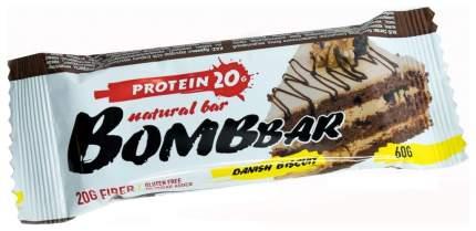 Протеиновый батончик Bombbar Protein Bar 60 г датский бисквит