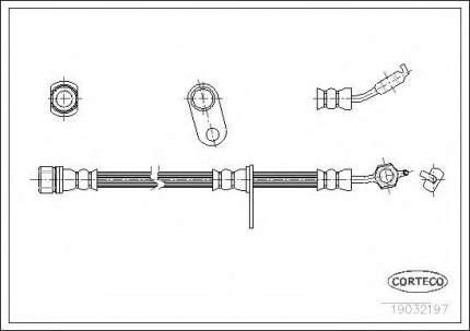 Шланг тормозной Corteco 19032197
