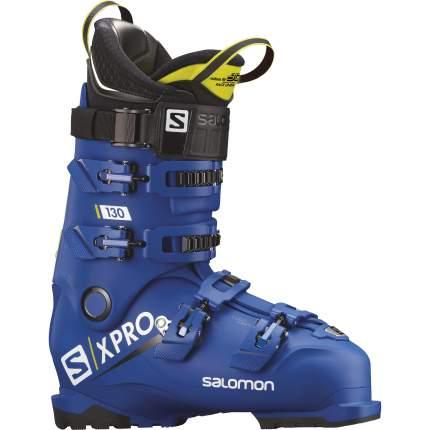 Горнолыжные ботинки Salomon X Pro 130 2019, raceblue/acid green, 31.5