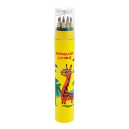 Набор цветных карандашей Каляка-Маляка 12 цв. шестигранные с заточкой туба 3+