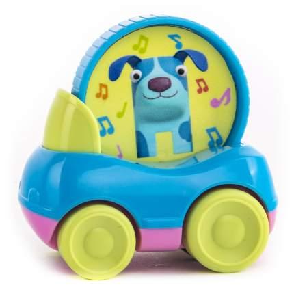 Машинка пластиковая Деревяшки Собачка Гав-Гав с кругом