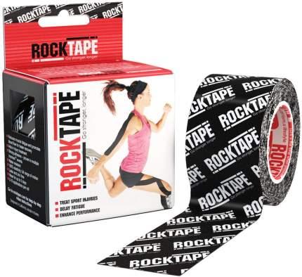 Кинезиотейп Rock Tape Classic черный 5 см x 5 м с логотипом