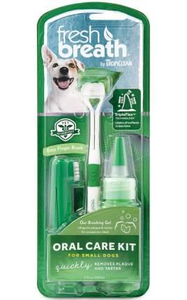 Набор для ухода за зубами собак мини-пород Tropiclean Свежее дыхание