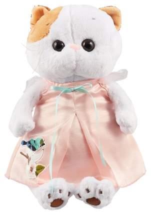 Мягкая игрушка BUDI BASA Кошечка Лили в розовом платье с птичкой, 24 см