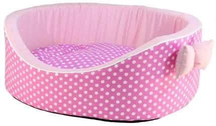 Лежак для собак и кошек Xody Премиум №0, хлопок, розовый, 38х26х15 см