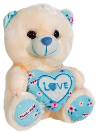 Мягкая игрушка Sima-Land Мишка с сердцем 4471233 Голубой