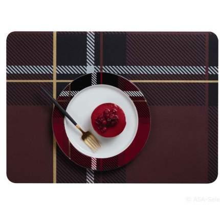 Сервировочная салфетка ASA Selection Tartan 46x33, цвет красный