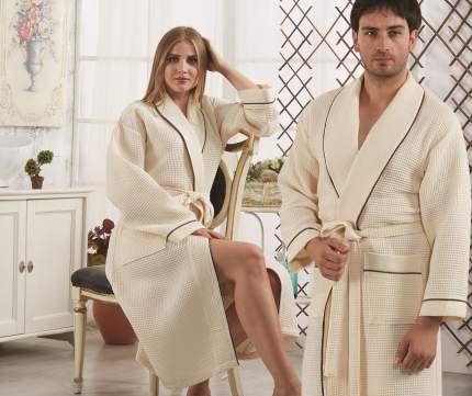 Банный халат KARNA Cleopatra кремовый xL