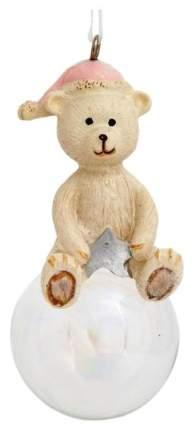 Елочная игрушка Феникс Present Полярный мишка в шапочке на шаре 78172