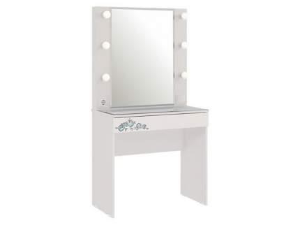 Детский туалетный столик Мебельсон Гламур Трюмо Белый / Белый глянец