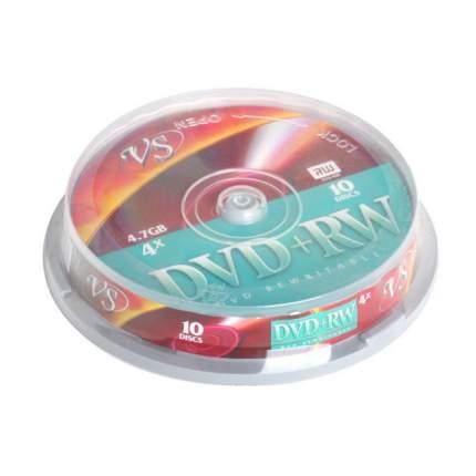 Диск DVD-RW VS 4.7Gb 4x 10шт Cake Box
