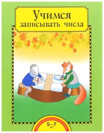 Захарова, Учимся Записывать Числа, 5-7 лет, тетрадь (Фгос)