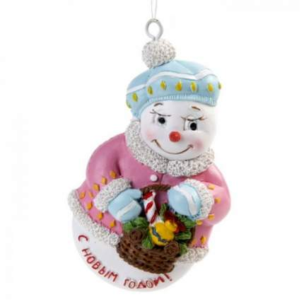 Елочная игрушка Феникс Present снеговик, 4,5х1,7х7,5 см