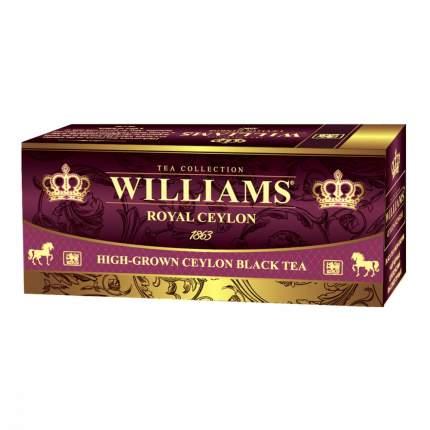 Чай Williams - Royal Ceylon черный 25 пакетиков