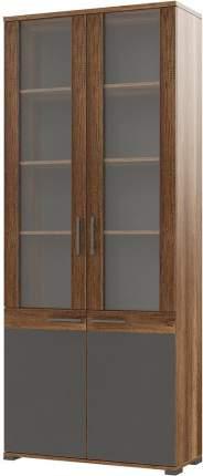Платяной шкаф Hoff 80325375 90х36,5х215,8, серый/дуб каньон