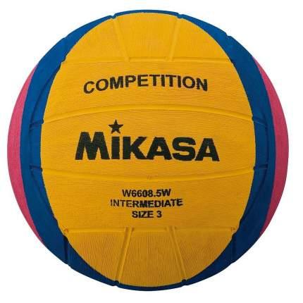 Мяч для водного поло Mikasa W6608.5W, 3, желтый/розовый/синий