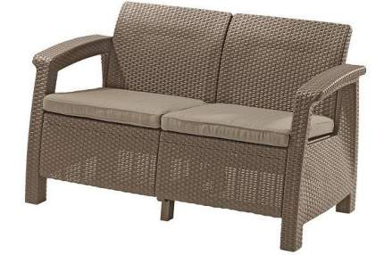 Садовый диван Keter Corfu II Love Seat 17197359C бежевый