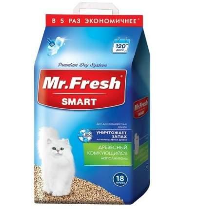 Наполнитель для кошачьего туалета Mr.Fresh SMART, древесный комкующийся, 18л