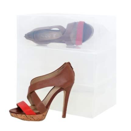Набор прозрачных коробок для хранения женских туфель, 3 шт, TT1830