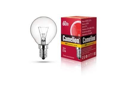 Лампа накаливания Camelion шар прозрачный 60 Вт.  Е14