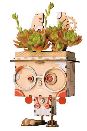 3d деревянный пазл robotime кашпо кролик ft741
