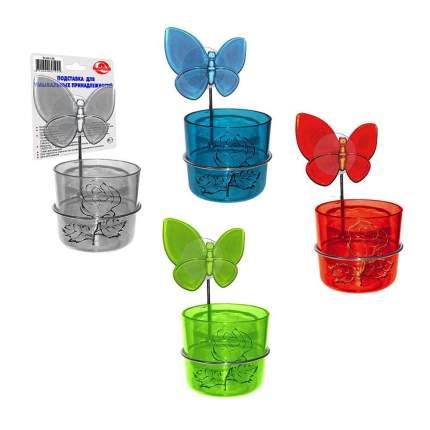 Подставка с бабочкой для умывальных принадлежностей