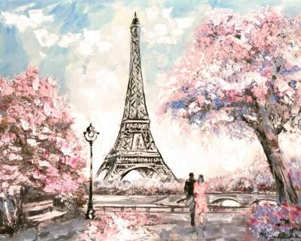 """Картина на холсте 50x40 см """"Париж весна"""" Ekoramka HE-101-754"""