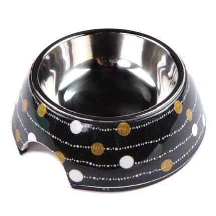 Миска для домашних животных Bobo, черная гирлянда, 150 мл