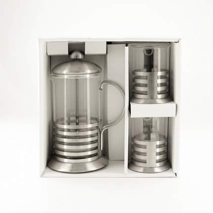 Френч-пресс Galaxy GL-9319, 600мл, 2 чашки, нержавеющая сталь/стекло