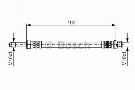 Шланг тормозной системы Bosch 1987476310